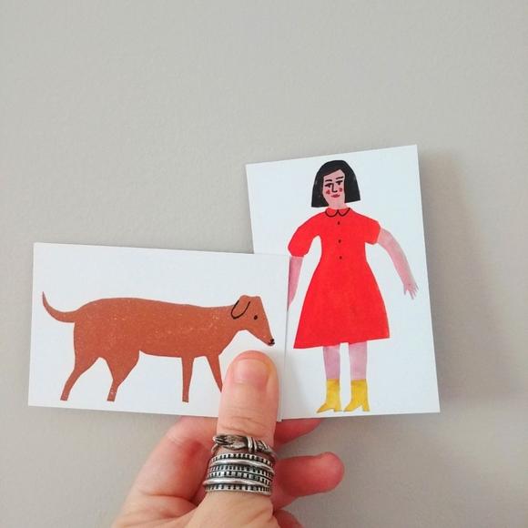 4/$15 - pair of tiny prints